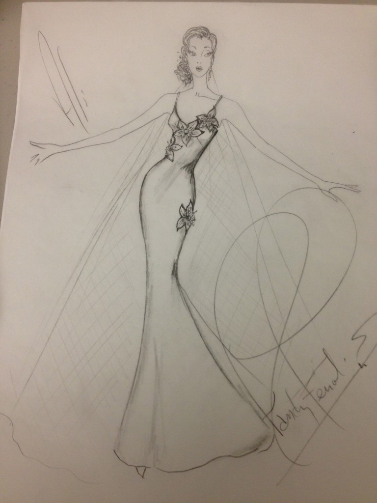 My sketch for Ali's Bridal Blueprint.