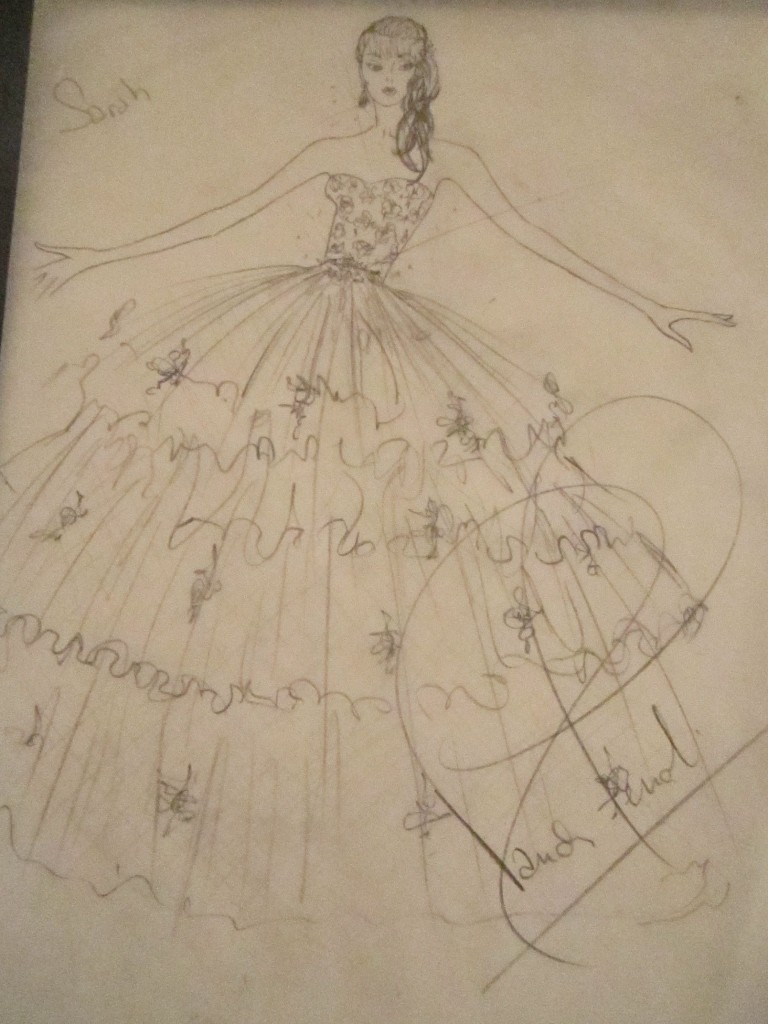 My sketch for Sarah's Bridal Blueprint.